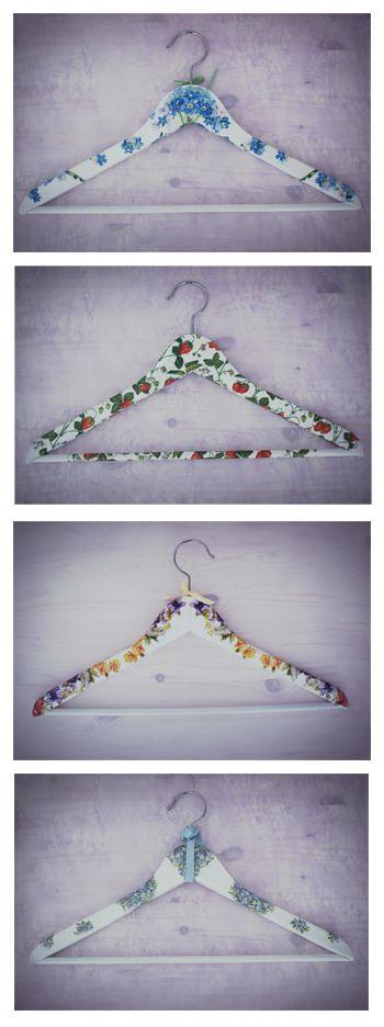 #decoupage #wartrobe #cute #hanger #flowers #blueflowerdesign www.facebook.com/blueflowerdesign