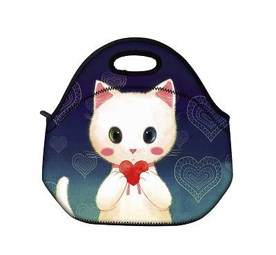 Cats-Soft-Neoprene-Travel-Picnic-Food-Insulated-Lunch-Tote-Cooler-Bag-Handbag