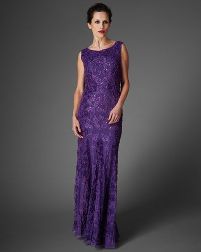 Women's Violet Liberty Tapework Full Length Dress