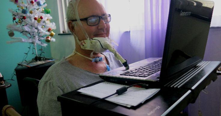 Após morar em hospital, paciente com ELA encontra jeito de utilizar a web