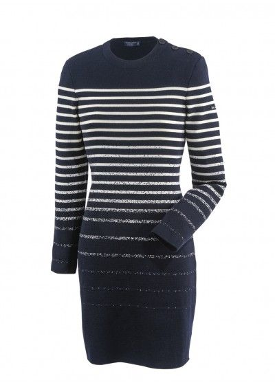 This stunning Saint James Dress in Navy and Foam has a gorgeous graduated design and is reduced by 25% right now in our Winter Sale.