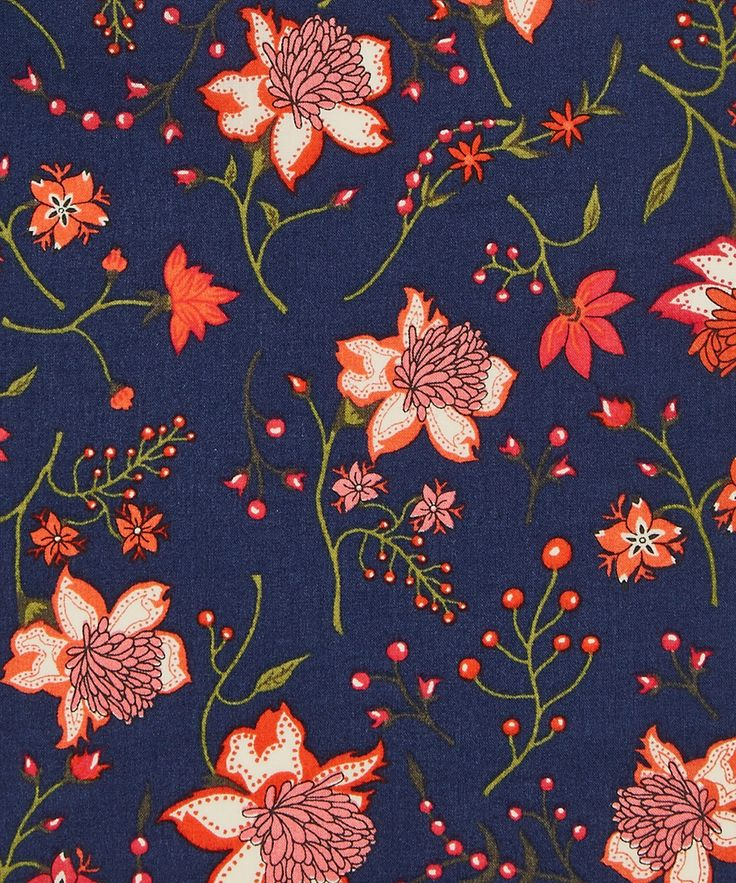 Nikita C Tana Lawn Cotton | Liberty Art Fabrics | Nikita was heavily inspired by Indian block and hand-painted prints on eighteenth century calico cotton – this Liberty print evokes two widely used print methods for cloth adornment during this period