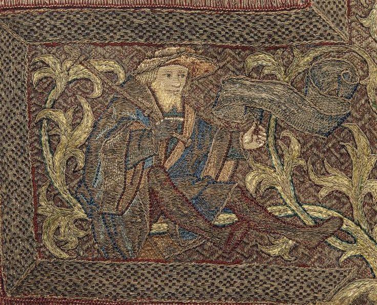 Chasuble : Arbre de Jessé DESCRIPTION:2e moitié 15e siècle.NOTE DE L'IMAGEdétail 5PÉRIODE 15e siècle période médiévale - Bas Moyen Âge SITE DE PRODUCTION Flandres (région historique) (origine) TECHNIQUE/MATIÈRE broderie (technique) , fil de soie , fil d'or , toile (textile) , velours façonné DIMENSIONSHauteur : 1.095 mLargeur : 0.6 m