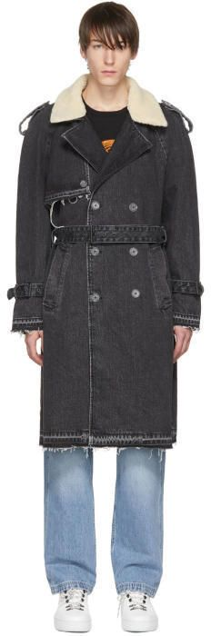 Off-White Black Levis Made and Crafted Edition Denim Trench Coat