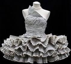 newspaper dress idea