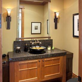 Craftsman Bathroom by John Kraemer u0026 Sons | Hubbardton Forge Banded Wall Torch 206251  & 79 best Bathroom Lighting images on Pinterest | Bathroom lighting ... azcodes.com