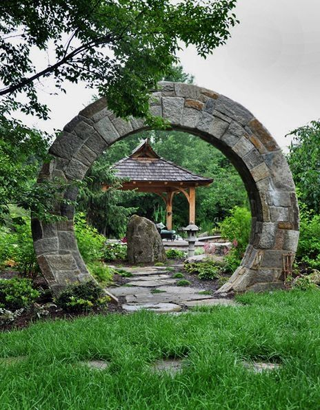 Buddhist Ceremony Traditional Japanese Garden: Japanese Garden ⊰ Moon Gate, McHale Landscape Design. A