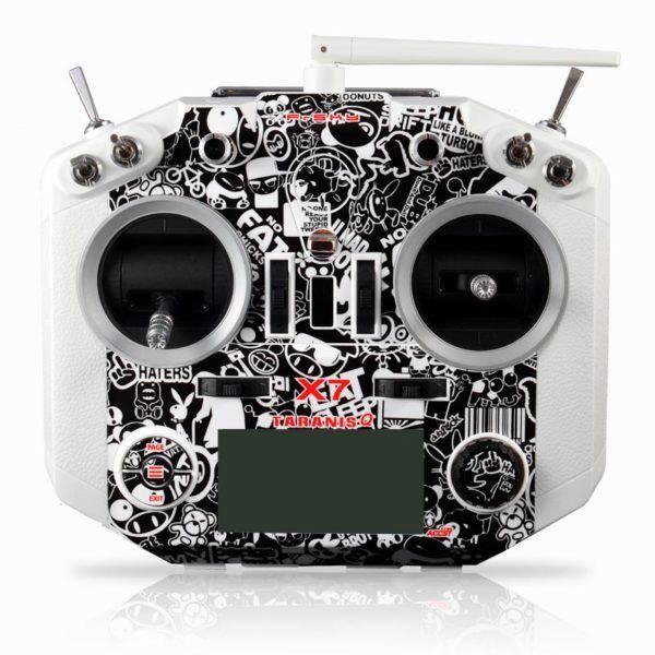 Taranis Q X7 StickerBoom BW Skin FrSky Radio Control