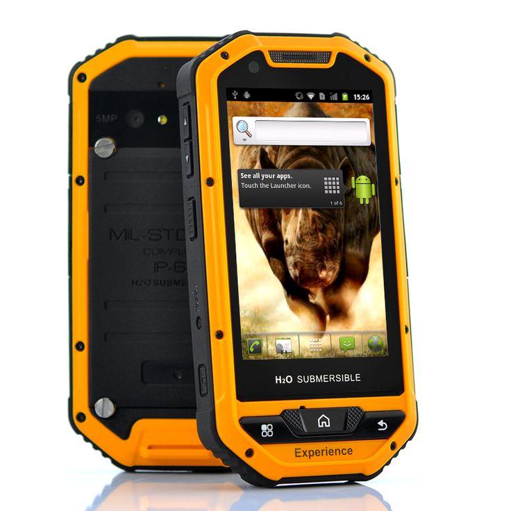 "Rugged Military Standard MIL-STD-810G Android Phone ""Rhino Mini"" - 3.5 Inch Screen, Waterproof, Shockproof, 5MP Camera"