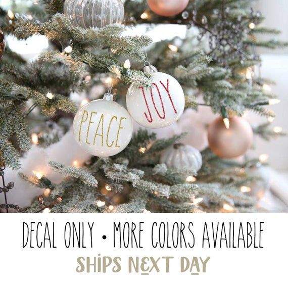 Rae Dunn Inspired Decals For Ornaments Farmhouse Holiday Decor Decals Shipped Next Day Decal On In 2020 Christmas Decals Christmas Decorations Rustic Holiday Decor