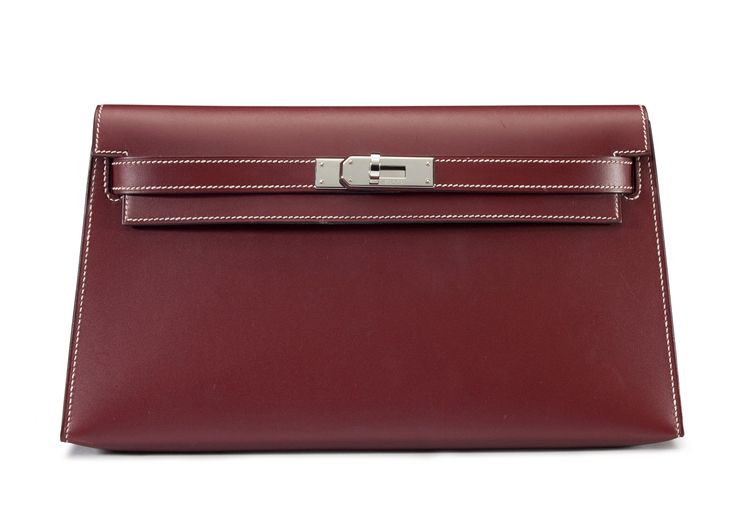 A Rouge H Chamonix Leather Kelly Lounge Clutch Bag #Hermes ...