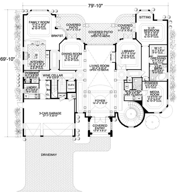 17 best images about house plans on pinterest craftsman for Florida mediterranean house plans
