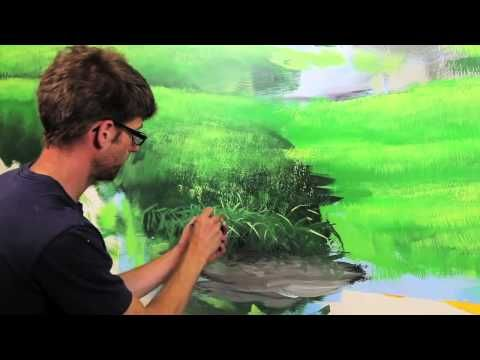 This is a whole series--Clip from How To Paint Grass Hills with Mural Joe - YouTube