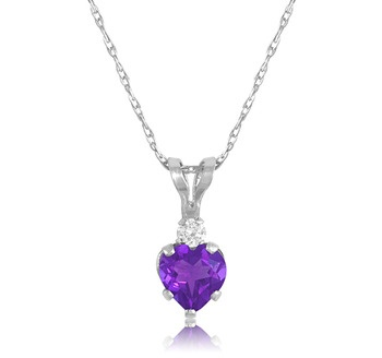 $4.99 - 0.5 Ct Amethyst Pendant in Sterling Silver: 0 5 Ct, Sterling Silver Fre, Jewelry, Necklaces, Products, 0 5Ct Amethysts, Amethysts Pendants