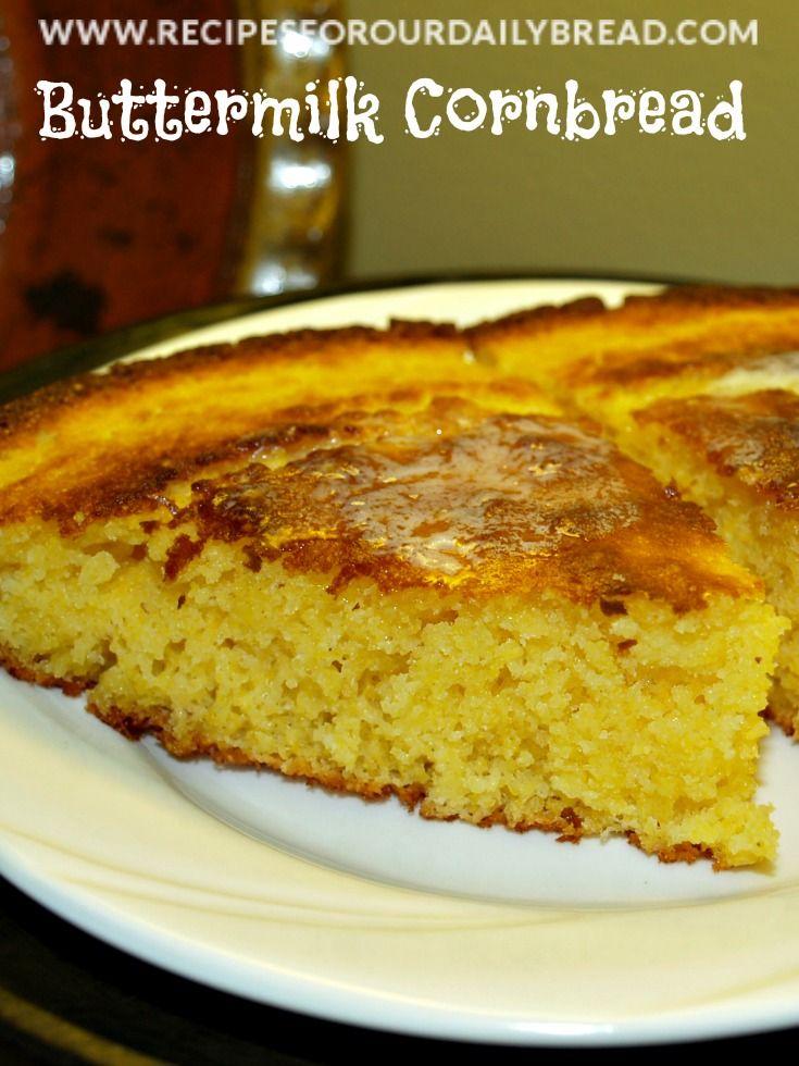 ... .com/2011/09/29/best-buttermilk-cornbread-recipe/ #bread #cornbread