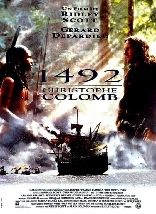 1492 : Christophe Colomb (1492: Conquest of Paradise), est un film épique franco-britannico-espagnol, réalisé par Ridley Scott et écrit par Roselyne Bosch, sorti le 14 octobre 1992 pour célébrer le 500e anniversaire de la découverte de l'Amérique par l'explorateur Christophe Colomb. Wikipédia
