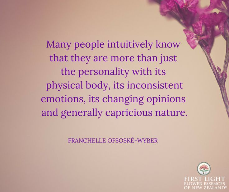 Many people intuitively know that they are more than just the personality...