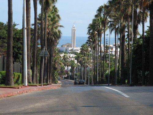 Vue sur le boulevard du Lido, dans le quartier d'Anfa Casablanca —