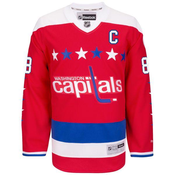 1df98199 ... Mens Washington Capitals Alexander Ovechkin Reebok Red 2015-16  Alternate Premier Jersey 8 White ...