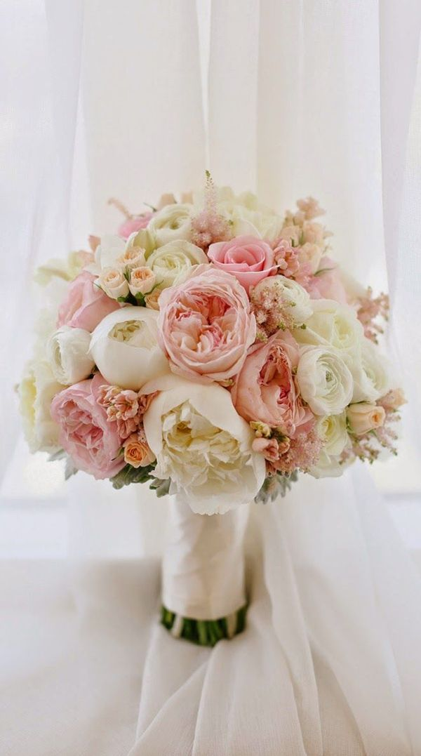 soft and ethereal peony spring wedding bouquet