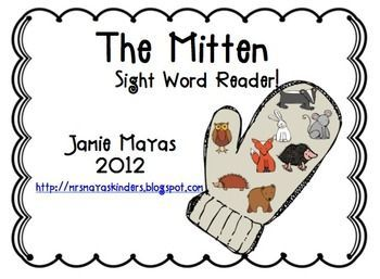 FREE!!  This is an emergent reader based on the story The Mitten by Jan Brett.