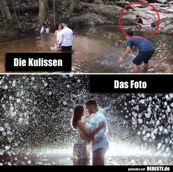 Die Kulissen / Das Foto. | Lustige Bilder, Sprüche, Witze, echt lustig