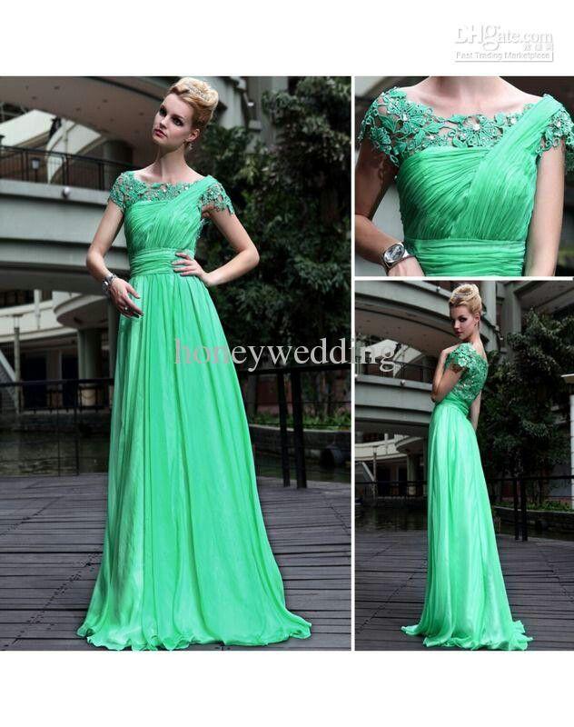 Cute modest prom dress!