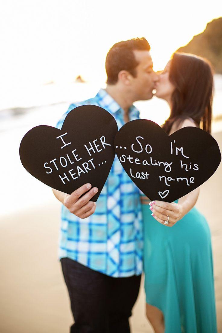 Really cute engagement idea!   #wedding #photography #engagement