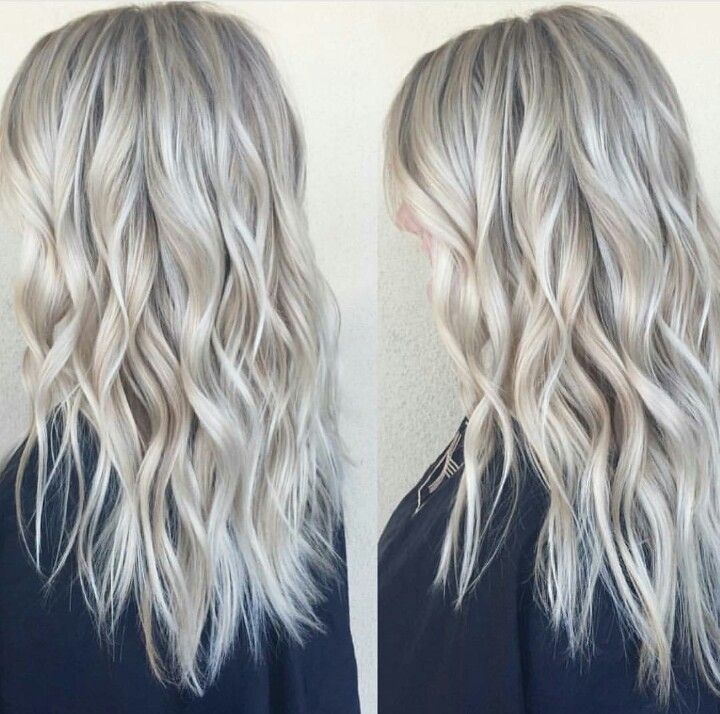 Icy Blonde Color And Cut Feliciatrone Hair Pinterest Icy Blonde Blonde Color And Blondes