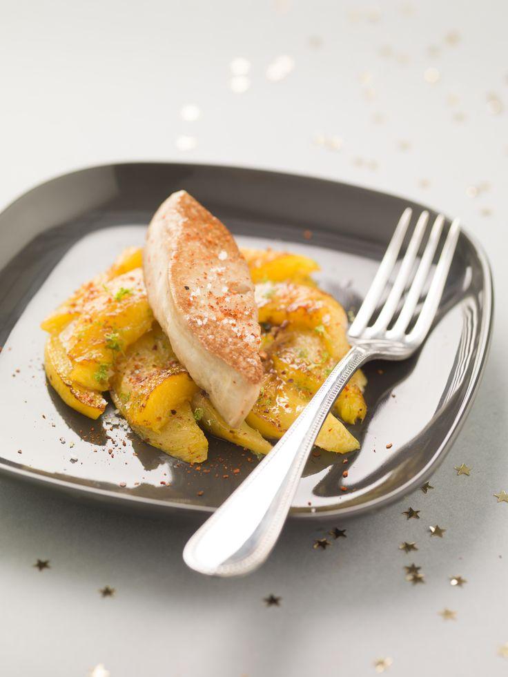 Foie gras de canard et mangue snackée