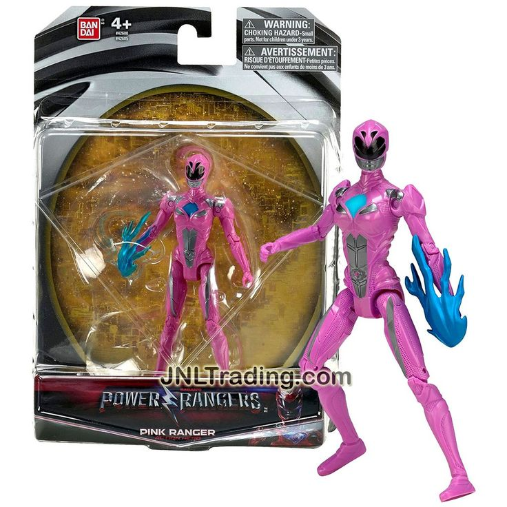 Bandai Year 2016 Saban's Power Rangers Movie Series 5 Inch Tall Action Figure - Action Hero PINK RANGER with Blue Flame