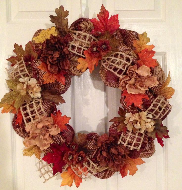 Fall paper mesh wreath!