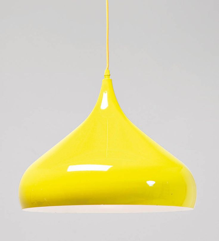 yellow pendant lamp by i love retro | notonthehighstreet.com