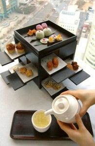 Hyatt Hotels have incredibly asthetic  afternoon teas, no matter where they are located (this one's in Korea).