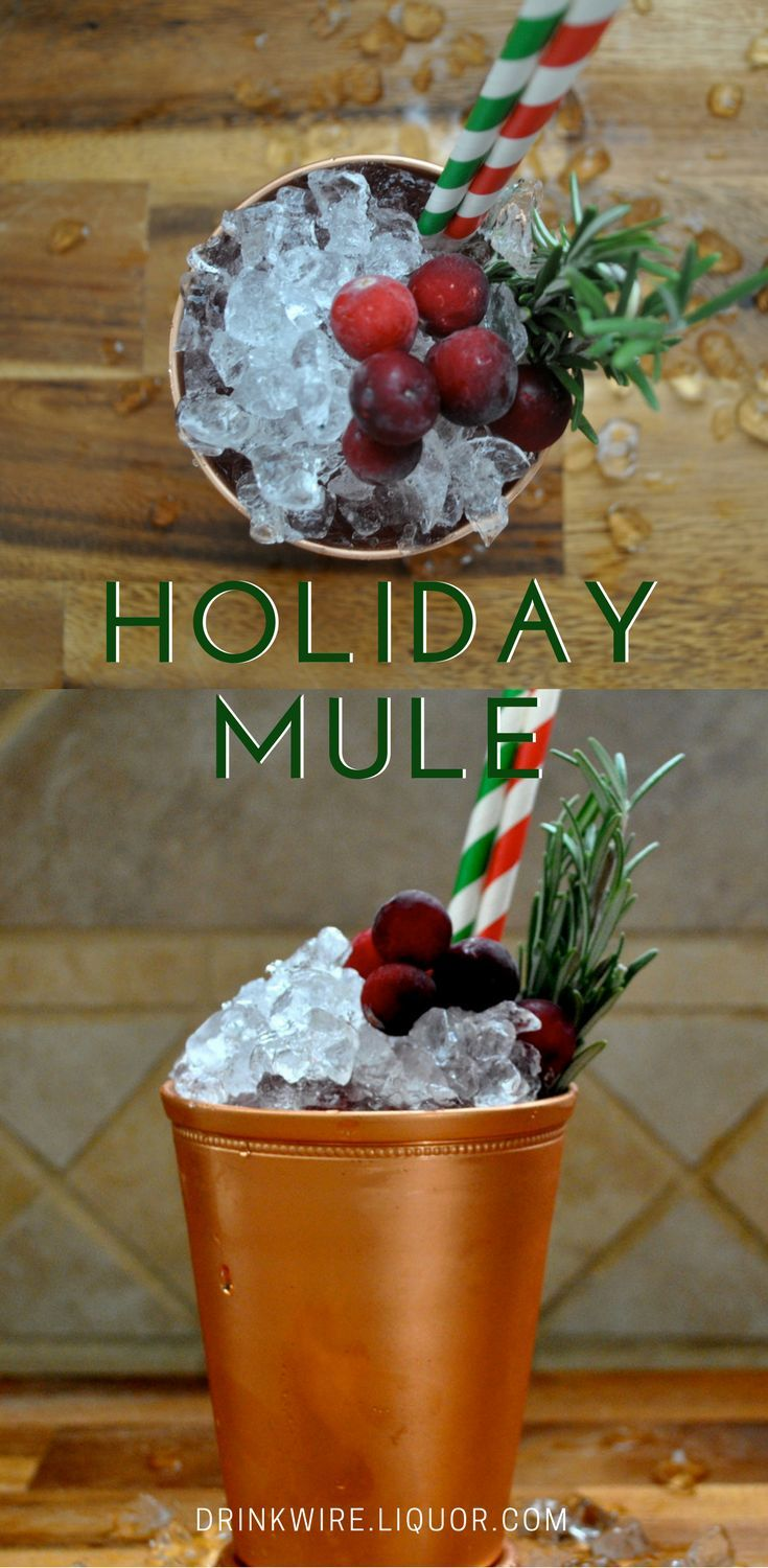 This holiday mule swaps vodka for #bourbon. Wonderful, wonderful bourbon accompanied by flavors of #cranberry and ginger. Tis' the season for cranberries after all and bourbon is always in season.