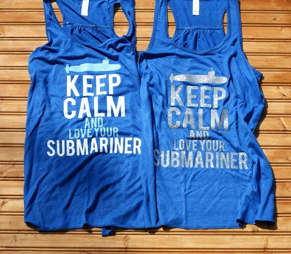 Keep Calm & Love Your Submariner  Women's by BangarangClothingCo, $28.95