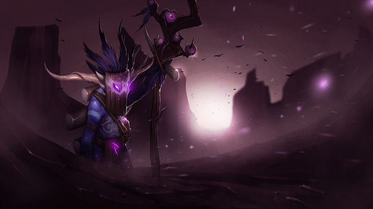 Witch Doctor and the Black Magic Wallpaper, more: http://dota2walls.com/witch-doctor/witch-doctor-and-the-black-magic-wallpaper