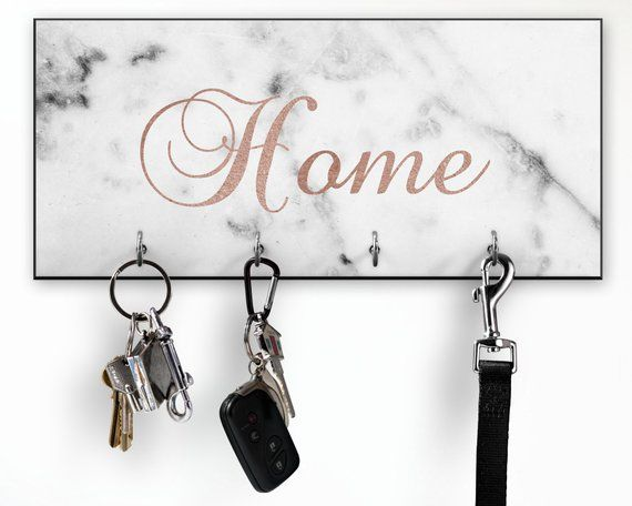 Welcome Home Wall Holder design steel Key Hook black and beautiful NEW