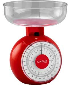 ColourMatch Mechanical Kitchen Scale - Poppy Red.