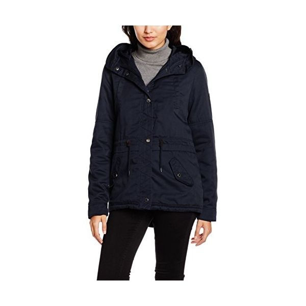Only damen winterjacke parka kurzmantel blue graphite xs