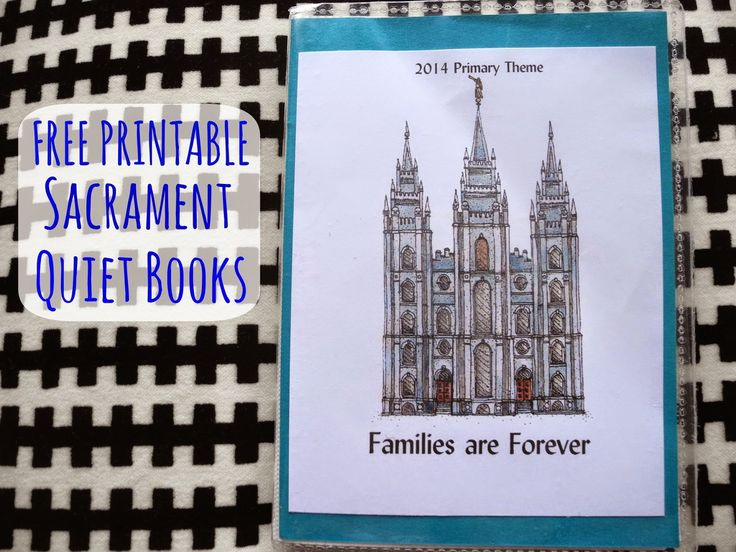 Dream Crafter Free Printable Sacrament Books Church