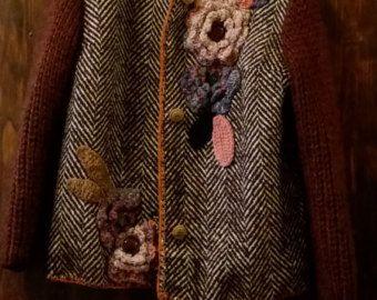 Unique/Gonna velluto riciclato inserti in tweed nuovo  di Dalfiore