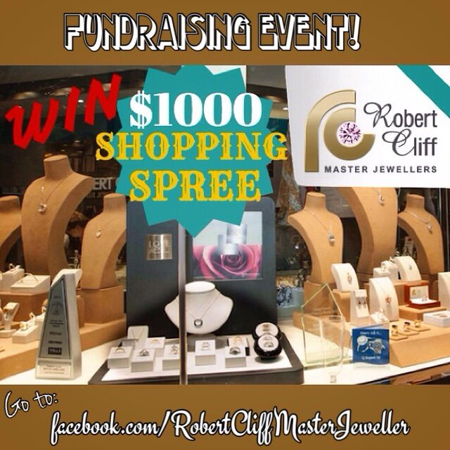 #Jewellery $1000 #ShoppingSpree #Giveaway! #Fundraising for #Cancer - Relay for Life Event! See facebook.com/RobertCliffMasterJeweller for details.