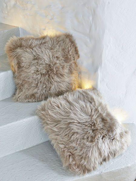 Luxurious Sheepskin Cushion - Caramel