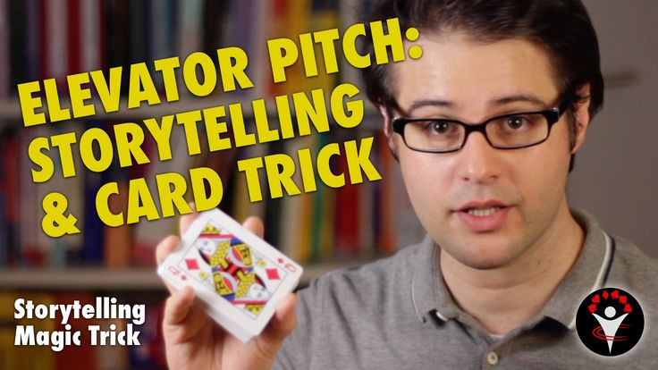 How to Elevator Pitch with Storytelling and Magic Card Trick