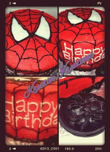 1st spiderman cake