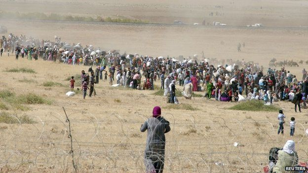 Syria crisis: 45,000 'flee Islamic State' into Turkey   Posted on September 20, 2014   Read more at http://conservativebyte.com/2014/09/syria-crisis-45000-flee-islamic-state-turkey/#ZYjKQ8hYfR8TKg4J.99