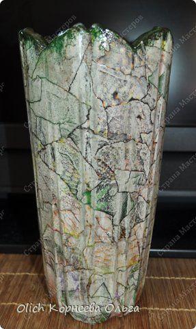 Декор предметов Декупаж Имитация под камень и обратный декупаж Бумага Краска Салфетки Стекло фото 10