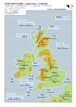 26-27. Wyspy Brytyjskie - mapa ogólna i rzeźba terenu