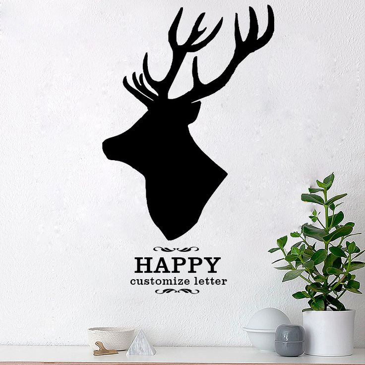 ZN G500 Customize Letter & Name Wall Sticker Deer Nordic Classic Vinyl Art Mural Stickers Wall Tattoo for Living Room Home Decor
